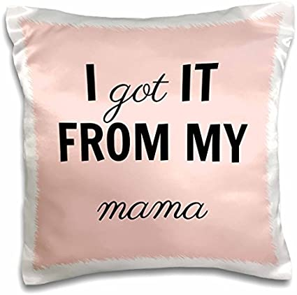 Amazon Com Onepicebest Xander Funny Quotes I Got It From My Mama Black Lettering 18x18 Inch Pillow Case Sports Outdoors
