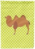 Caroline's Treasures BB7644CHF Bactrian Camel Green Canvas House Flag, Multicolor