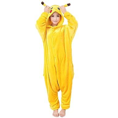 JunYito Pijama Pikachu Animale Disfraz Stitch Traje Niños Niña Adulto Mujer Invierno Kigurumi Unicornio Cosplay Halloween y Navidad
