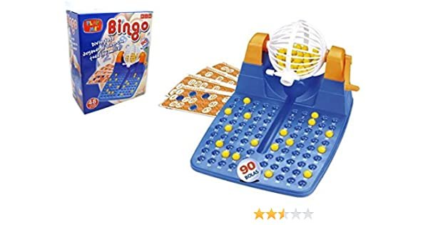PLAY ME Super Grande Juego de Bingo Cards Máquina de Bingo Inicio Bingo XL Bingo: Amazon.es: Juguetes y juegos