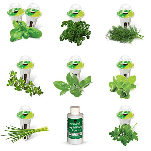 AeroGarden Gourmet Herb Seed Pod Kit (9-Pod) - Chives 100 Seeds