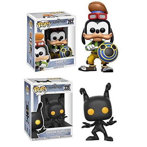 Funko POP! Kingdom Hearts: Goofy + Shadow Heartless – Stylized Video Game Vinyl Figure Set NEW