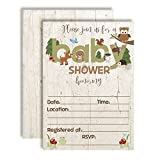 Woodland Baby Shower Invitations with Owl, Bear, Deer, Moose, Squirrel and Other Forest Animals. 20 5''x7'' Fill in Cards with Twenty White Envelopes by AmandaCreation