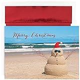 Best JAM Paper Friends Christmas - JAM Paper Christmas Card Set - Beach Snowman Review