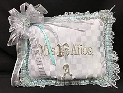 095f0d813e4 Amazon.com   Sweet 16 Pillow for Tiara or Shoes Personalized with  Rhinestone Letter   Everything Else