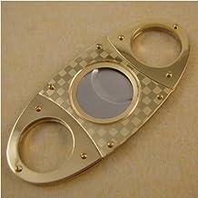 CiGuru CC002 Double Blades Guillotine Cigar Cutter Stainless Steel - gold