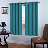 Teal Curtains Blackout Drapes Room Darkening Grommet Curtains for living room Nursery, Teal, Each Panel 52
