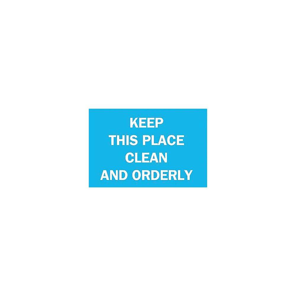 White on Blue 10 Height x 14 Width Brady 122350 Maintenance Sign