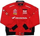 Honda Racing Boys Cotton Twill Embroidered Jacket (X-Large, RAC4 - Red)