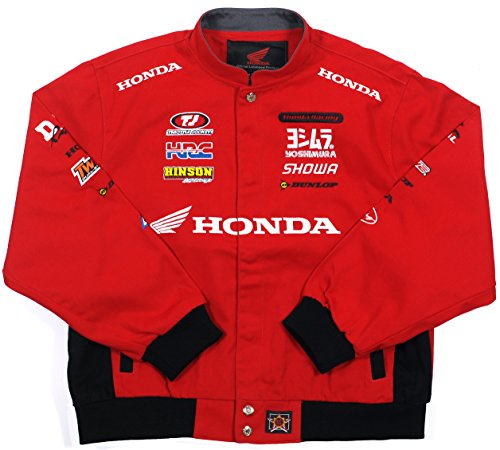 JH DESIGN GROUP Honda Racing Boys Cotton Twill Embroidered Jacket (2X, RAC4 - Red)