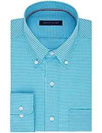 Men's Non Iron Regular Fit Gingham Buttondown Collar Dress Shirt