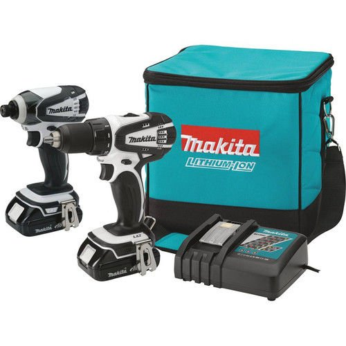 Makita CT200RW 18V Compact Lithium-Ion Cordless Combo Kit, 2-Piece (Discontinued by Manufacturer) (Makita Set Drill Driver)