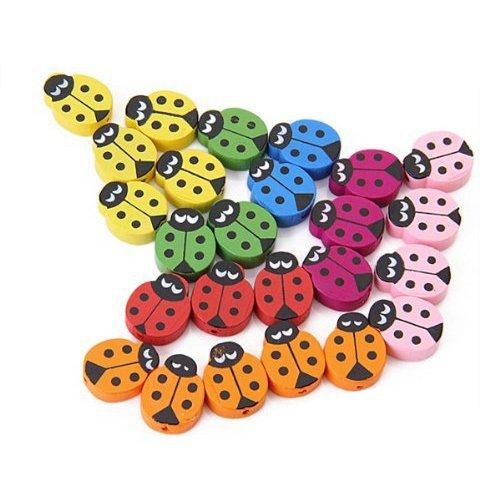 SODIAL(R) 18 PCS Perles joaillerie en bois pour enfants 024026
