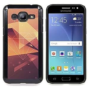 - diamond vignette yellow pattern polygon - - Modelo de la piel protectora de la cubierta del caso FOR Samsung Galaxy J2 RetroCandy