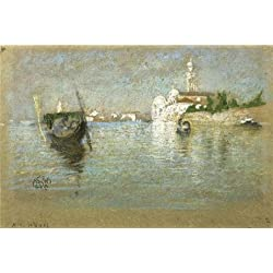 Oil Painting 'James McNeill Whistler - The Cemetery Venice, 1879' Printing On Perfect Effect Canvas , 12x18 Inch / 30x45 Cm ,the Best Bar Decoration And Home Artwork And Gifts Is This High Resolution Art Decorative Prints On Canvas