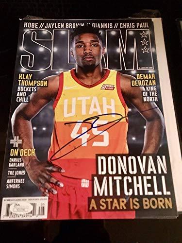 Donovan Mitchell Autograph signed SLAM Magazine Utah Jazz COA - JSA Certified - Autographed NBA Magazines