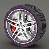 Kabis Car Rimblades Purple Color Alloy Wheel Rim Protector Tyres Tire Guard Rubber Moulding