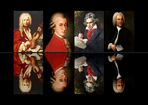 - The Composers: Ludwig Van Beethoven/Wolfgang Amadeus Mozart/Johann Sebastian Bach/Antonio Lucio Vivaldi. Classical Music Art Print/Poster. (59.4cm x 42cm)