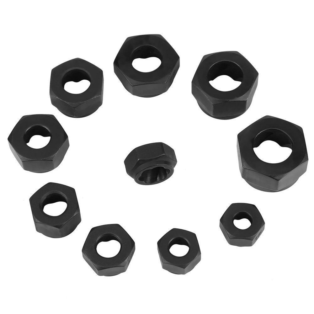 Akozon Nut Remover 11pcs/Set 9-19mm Damaged Nut Bolt Remover Stud Extractor Locking Socket by Xinrub (Image #5)