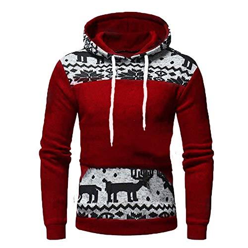 Gamlifing Men Hoodie Fleece Sweatshirt Pullover Top Long Sleeve Heavyweight Performance Jumper Christmas Hoodie Adults…