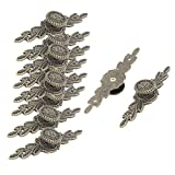 uxcell Metal Home Wardrobe Door Closet Drawer Pull Handle Knob Grip 10pcs Bronze Tone