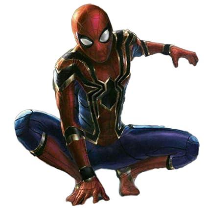 XINFUKL Vengeance Spiderman Traje Cosplay Medias Iron Spiderman Impresión 3D,Red-M(161-170cm)