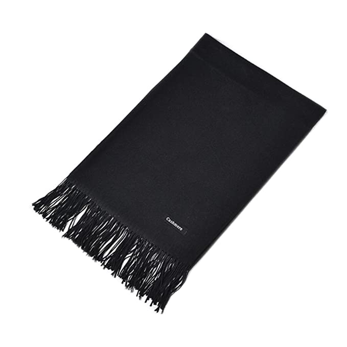61a84fa72 MMYOMI Autumn and Winter Korean Style Lovers of Super Pure Cashmere Scarf  Shawl (Black)