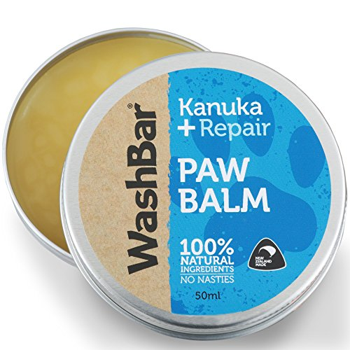 WashBar Dog Paw Balm 50ml -100% Natural Nose and Pad Wax Protection That Heals Repairs and Moisturizes Cracked Pet Skin Perfect for ()