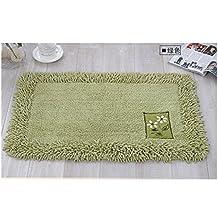 Lopkey Cotton Carpet Mats Rectangular Doormat Kitchen Foyer Absorbent Area Rugs Pad 18 x 28 Inch Green