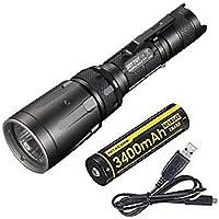 Combo: Nitecore SRT7GT Flashlight Smart Select Ring Multi-Colored LED's - 1000 Lumens -XP-L Hi V3 w/NL1834R Battery +Free Eco-Sensa USB Cable