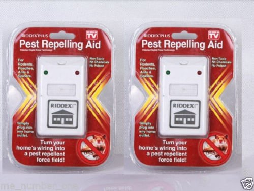 2 Riddex Plus Pest Repeller As Seen on Tv Aid for Rodents Roaches Ants Us by DASS