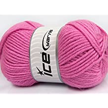 Lot of 4 x 100gr Skeins Ice Yarns ALPACA GOLD (25% Alpaca 25% Wool) Yarn Pink