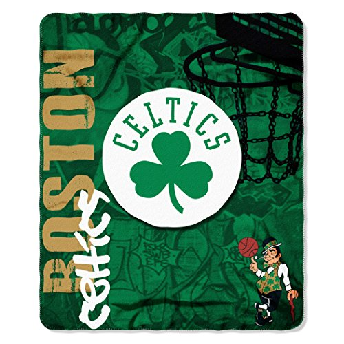 fan products of Officially Licensed NBA Boston Celtics Hard Knocks Printed Fleece Throw Blanket, 50