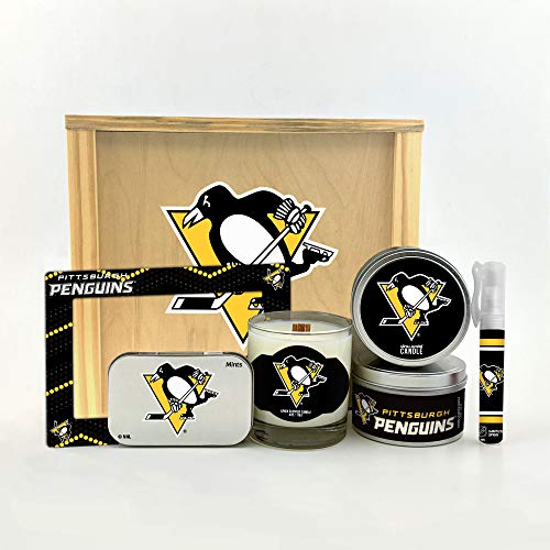 Worthy Promo NHL Pittsburgh Penguins Gifts Home Décor Gift Box for Women and Men Valentine's Day, Mother's & Father's Day, Easter, Birthday, Christmas ()