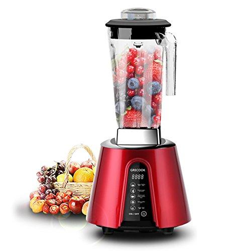 GRECOOK Professional Series Blender Living High-Speed Food Processor Blenders Kitchen Machine 2.5L(Red, 110V)