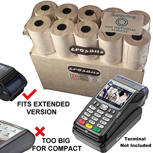 EPOSBITS® Brand Rolls To Fit Verifone VX675 VX 675 Credit