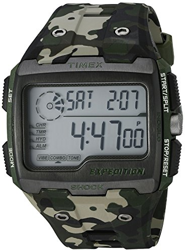 Timex Men's Grid Shock | Chronograph Hydration Green Camoflauge Watch TW4B02900