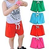 #6: Winsummer Summer Baby Boys Girls Cotton Surf Beach Swim Shorts Pants for 2-6 Years Old Adjustable Waist