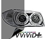 VViViD Smoke Black Gloss Vinyl Headlight Foglight