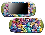 Monsters Inc University Mike Sulley Video Game Vinyl Decal Skin Sticker Cover for Sony PSP Playstation Portable Slim 3000 Series System