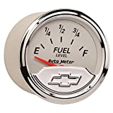 Auto Meter 1317-00408 Chevy Vintage 2-1/16 Electric Fuel Level Gauge (Empty/Full, 52.4mm)