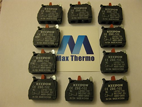 (10 pcs of ZBE-102 N.C FITS FOR TELEMECANIQUE Schneider CONTACT BLOCK)