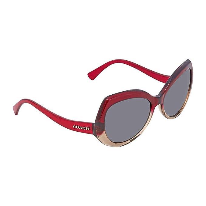 Amazon.com: anteojos de sol COACH HC 8177 548487 rojo arena ...
