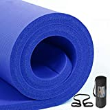 GJF Yoga Mat and Pilates Mats Leisure Ultra Thick Soft Anti-Slip Moisture-Proof Fitness Blanket with Tie Rope Thickness 20mm and 30mm Color : Blue