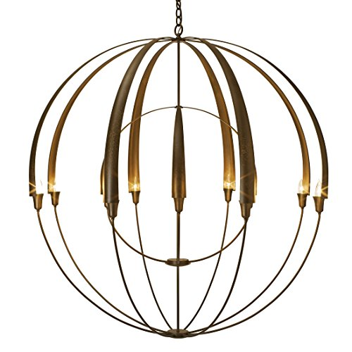Hand Forged Iron Large Chandelier (Hubbardton Forge 194248-1006 Double Cirque Large Scale Chandelier, Natural Iron Finish)