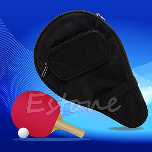 - Tyary - Black Waterproof Table Tennis Racket Bag PingPong Paddle Bat Case w/ Ball Pouch