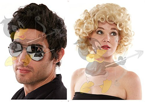 Bundle Pack (2in1): SANDY + DANNY Wigs *Grease* The Last Scene by (Sandy And Danny)