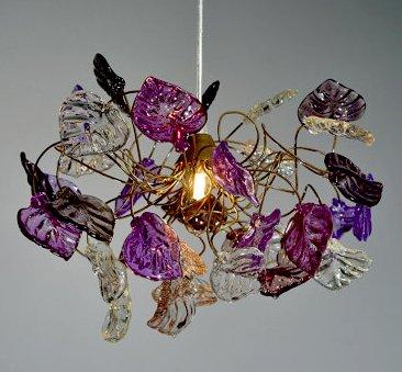 Lustre Design - Lampe Suspendue - Feuille Erables Transparentes ...