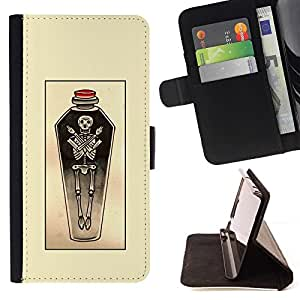 Momo Phone Case / Flip Funda de Cuero Case Cover - Yellow Potion Sketch Art - LG Nexus 5 D820 D821