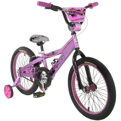 Mongoose Lark Girl's Bicycle with Training Wheels, 18-Inch Wheels, Pink   Computers